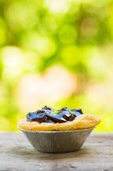 ブルーベリージャムとチーズケーキのタルト