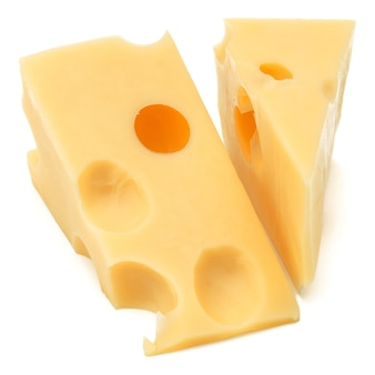 Сыр, изолированные на белом фоне