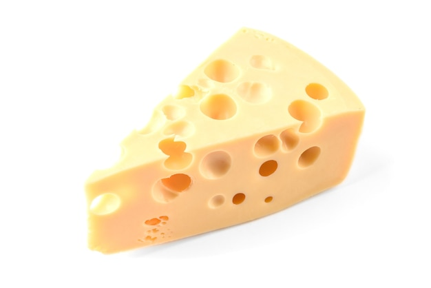 Cheese isolated on white.