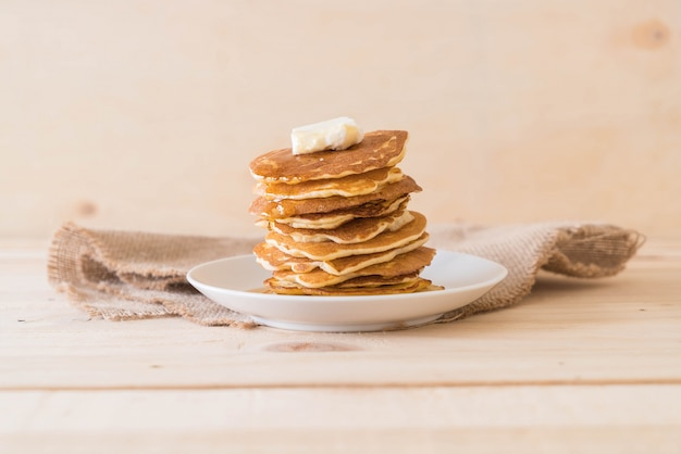 Cheese on pancake  with honey