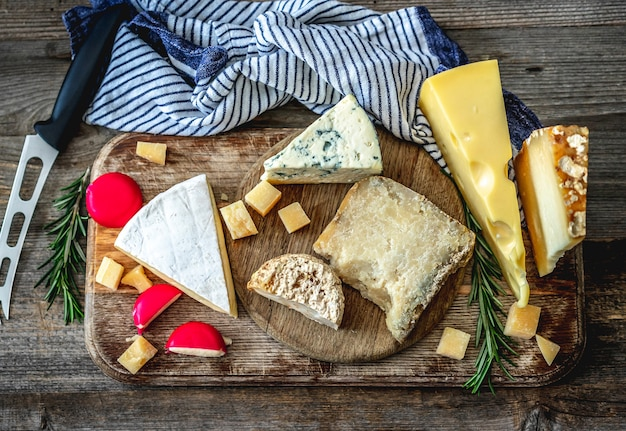 Cheese plate with rosemary