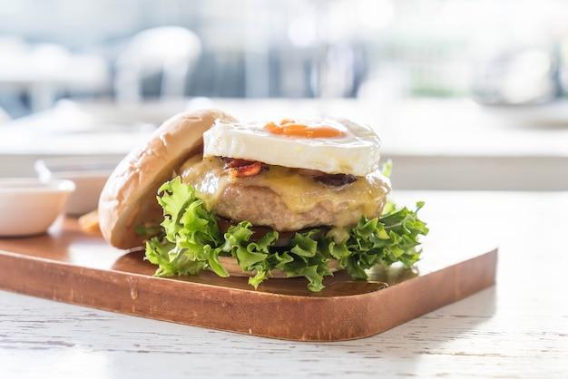 Cheese pork hamburger