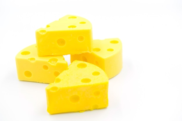 Cheese on white background food
