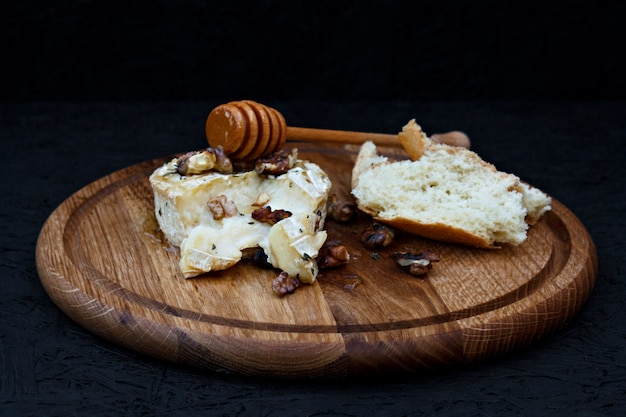 Cheese with honey and nuts