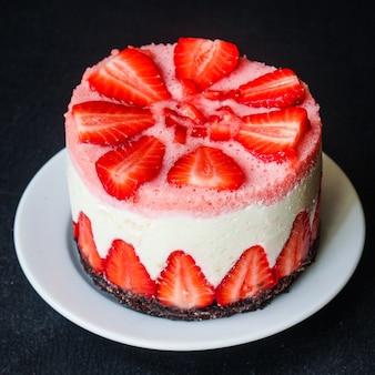Cheesecake strawberrie sweet mascarpone cake