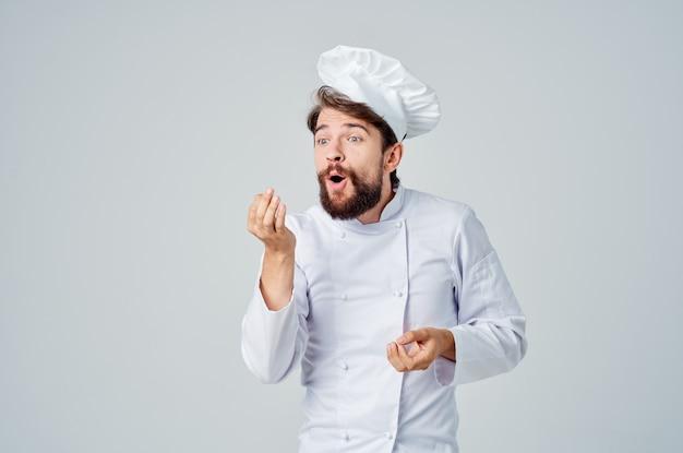 Шеф-повар приготовления кулинарной индустрии изолированный фон