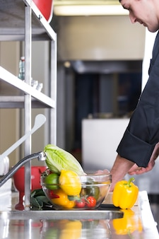 Chef preparing a recipe