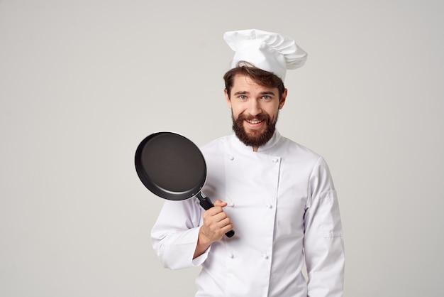 Шеф-повар ресторана предоставление услуг светлом фоне