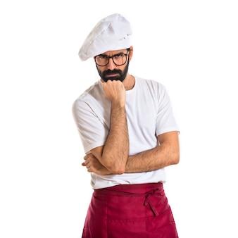 Шеф-повар мышления на белом фоне