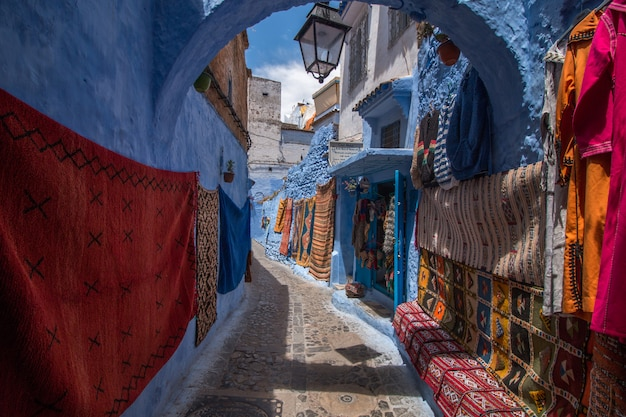 Chefchaouen city buildings