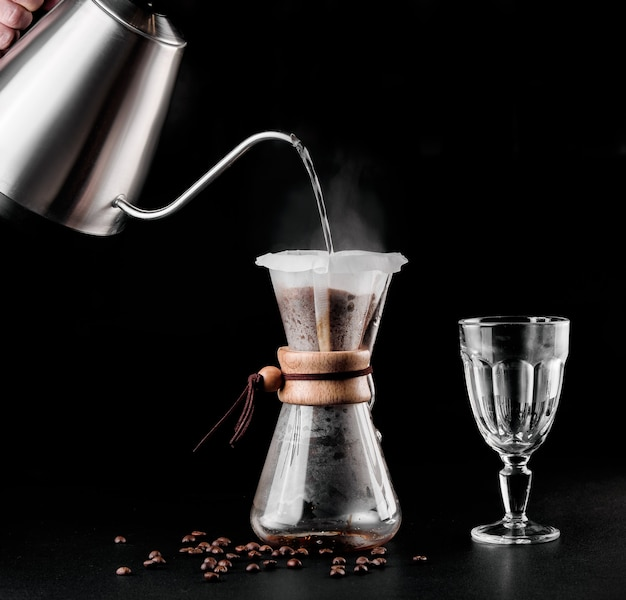 Chemex coffeemaker is a manual pour-over style glass coffeemaker