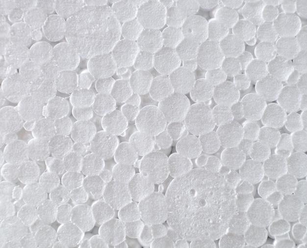 Chemical foam plastic circle white texture