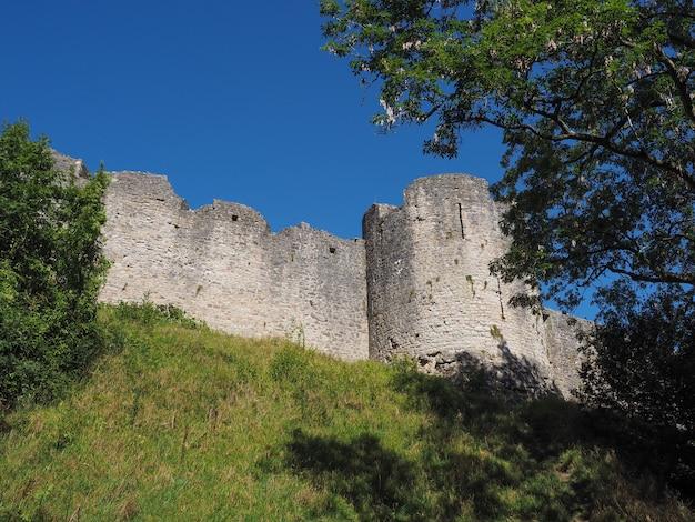Руины замка чепстоу в чепстоу