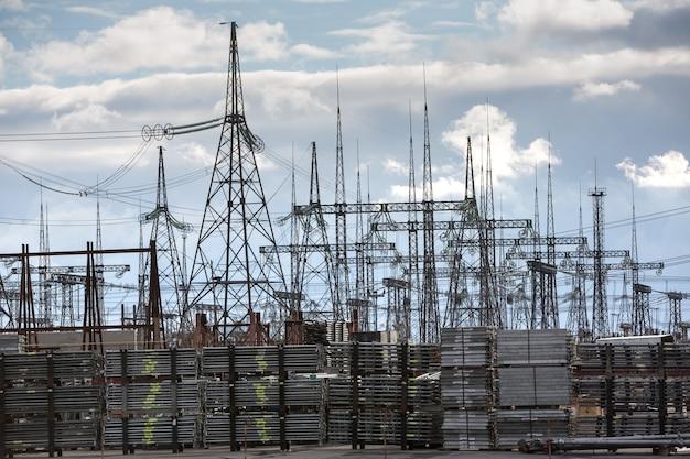 체르노빌 원자력 발전소. 변전소 및 고압 전력선