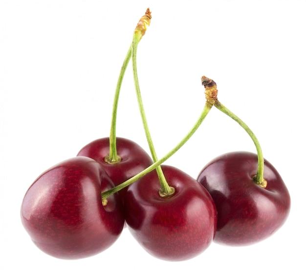 Cherry berries isolated