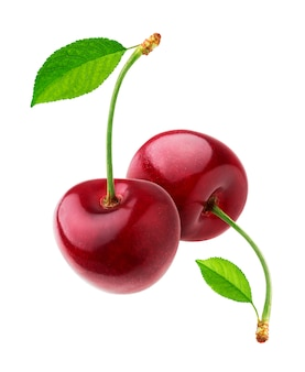 Cherry isolated on white  with clipping path