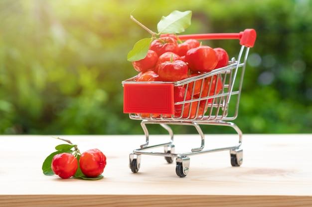 Cherry in shopping cart