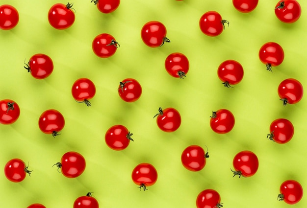 Cherry tomato, healthy eating and vegetarianism