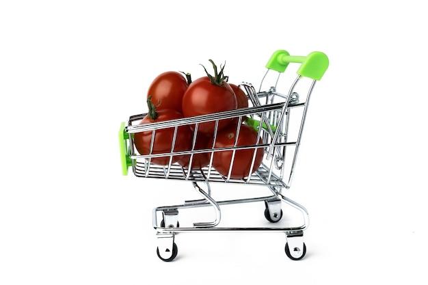 미니 슈퍼마켓 트롤리에 체리 토마토, 절연