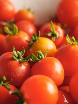 Cherry tomatoes natural background.