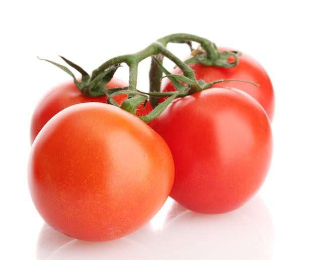 흰색 절연 방울과 지점에 체리 토마토