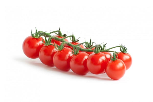 Cherry tomatoes on white isolated