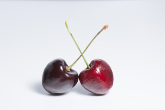 Cherry white background