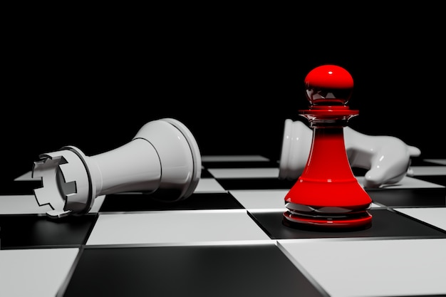 Chess board game, business competitive concept