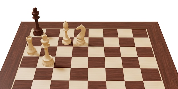 Chess board game competition business and chess strategy concept