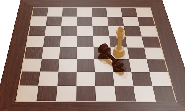 Chess board game competition business concept on white background battle for victory
