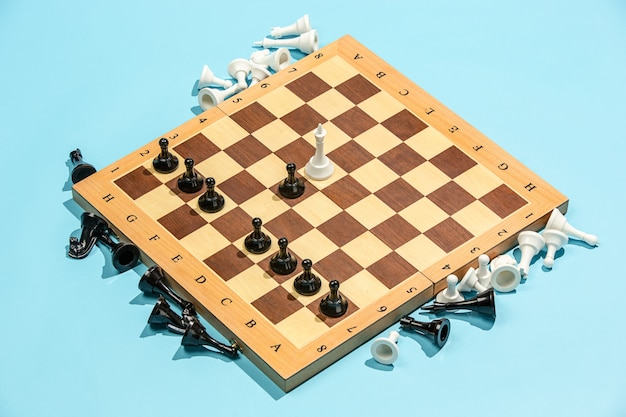 Chess board and game concept. business ideas, competition, strategy and new ideas concept.