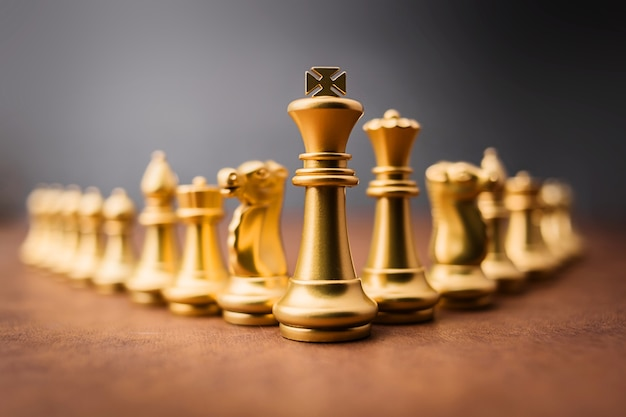 Chess board game concept of business ideas