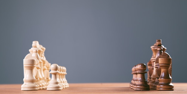 Chess board game concept for ideas and competition and strategy, business success concept