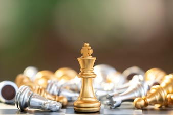 Chess board game for ideas and competition and strategy