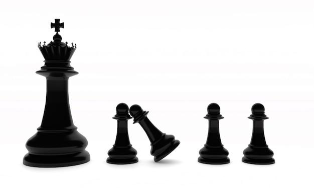 블랙 체스 보드 게임 조각