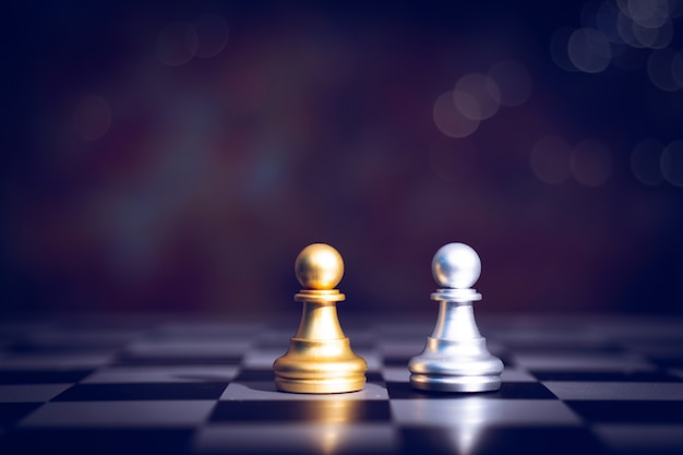 Chess of board game of planning and strategy in business