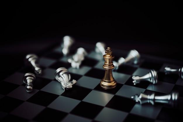 Шахматная настольная игра стратегическое планирование и бизнес-концепция соревнований
