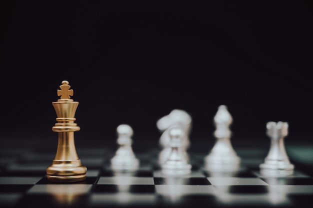 Chess board game strategy planning and competition