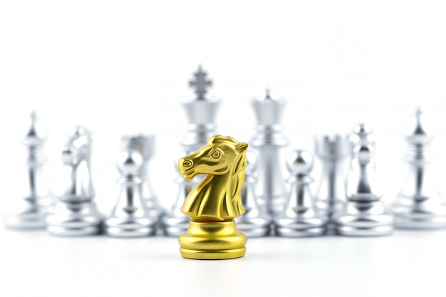 Chess board game strategy, planning and decision concept, business solutions for success.