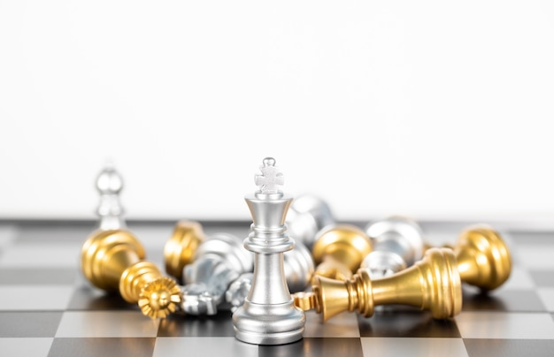 Chess board is the intelligence strategy game to make ideas for business and marketing concept, the success ideas is drive the business to hit target goal and make the advantage above the competition.