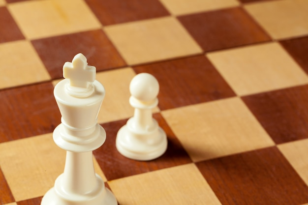 Chess business concept, leader and success.