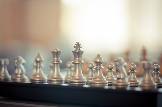 Chess on chessboard game business