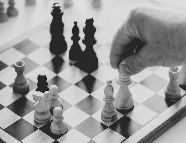 Chess game business strategy concept