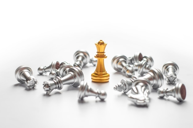 Chess game win, business success concept