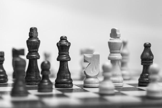 체스판에서 촬영한 체스