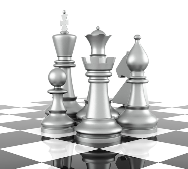 Chess piece, isolated on white background. 3d rendering