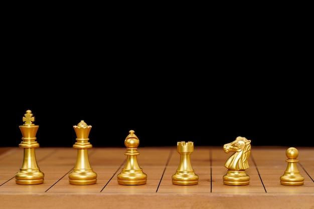 Chess pieces arrangement on chessboard