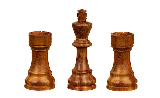 Шахматные фигуры, изолированные на белом фоне