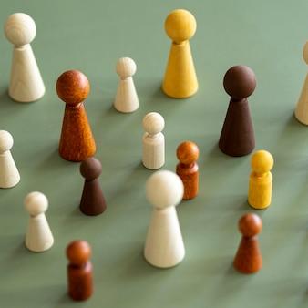 チェスの木製ピース