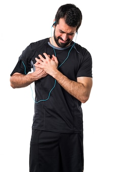 Chest medicine painful runner severe